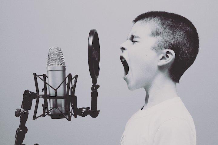 Creative Boy w Microphone